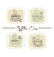 Hot drinks set vector image