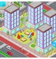 Isometric City Sleeping Dormitory Area vector image
