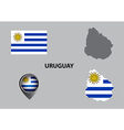 Map of Uruguay and symbol vector image