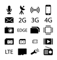 Mobile phone specification icon collection vector image