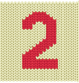 Silhouette of woven number vector image