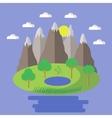 Spring Landscape Nature Background vector image
