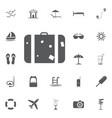 the suitcase icon luggage symbol flat vector image