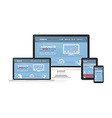 Responsive web desing on different devices vector image