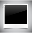 photo on grey background vector image vector image
