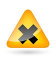 Error Cross Lines Symbol vector image
