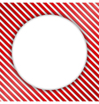 Round Banner on Striped Background vector image