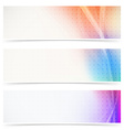 Web header abstract wave line collection vector image vector image