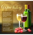 Wine Realistic Background vector image