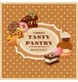 Vintage Pastry Frame vector image