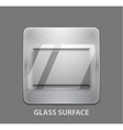 Metal app button with glass surface vector image