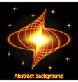 Abstract background with bright fire glowing geome vector image