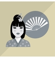 chinese culture design over white background vector image