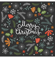 Christmas card Merry Christmas lettering vector image