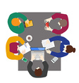 Flat style office workers business management vector image