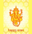 Ganesha postcard vector image