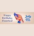 independence day and woman vector image