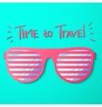 Sun Glasses Travel Green vector image