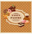 Vintage Pastry Frame vector image