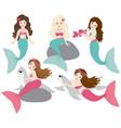 Mermaids Set vector image