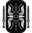 fantasy roman shield and swords vector image vector image