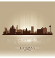 Liverpool England skyline city silhouette vector image vector image