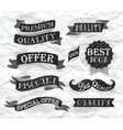 Set of retro ribbons and labels crumpled paper vector image vector image