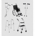 Different kinds of handicap equipments vector image