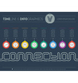 Infographic timeline about connection with 8 parts vector image
