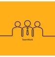 teamwork business concept design background vector image