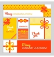 Bow And Ribbon Cards vector image
