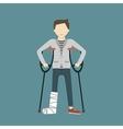 Man with Broken Leg vector image