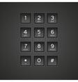 Keypad vector image