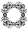 abstract pattern frame contour vector image