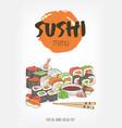 beautiful template for restaurant menu of japanese vector image