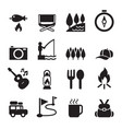 camping icon set 2 vector image
