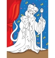 Coloring Book Of Mouse King From Tale Nutcracker vector image