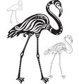 Decorative flamingo vector image