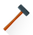 flat sledgehammer icon vector image