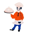 funny cartoon restaurant character merry cook vector image