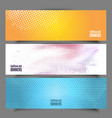 halftone dot banners vector image