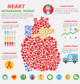 heart infographic with symbols text and graphic vector image