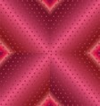Pink Shiny Letter X Font Background Metal vector image
