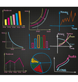 Profit Charts set vector image