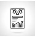 Web optimization icon black line icon vector image
