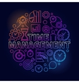 Time management colorful round vector image vector image