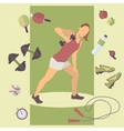 Fitness concept flat Isolated vector image