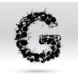 Letter G formed by inkblots vector image vector image
