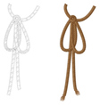 Rope bow vector image