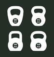 kettlebells icons vector image